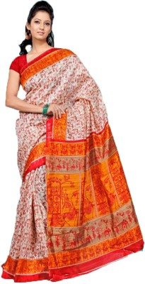 ZofeyFashion Printed Bhagalpuri Cotton Sari