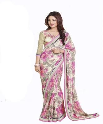 Amayra Fashions Printed Fashion Georgette Sari