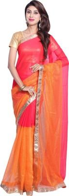 Hanis Solid Fashion Handloom Chiffon, Net Sari