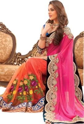 MatindraEnterprise Embriodered Bollywood Net Sari