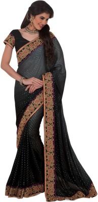 Daksh Enterprise Embriodered Daily Wear Crepe Sari