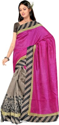 Parth Self Design Fashion Handloom Silk Sari