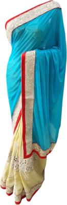 M.S.Center Embriodered Fashion Lycra Sari