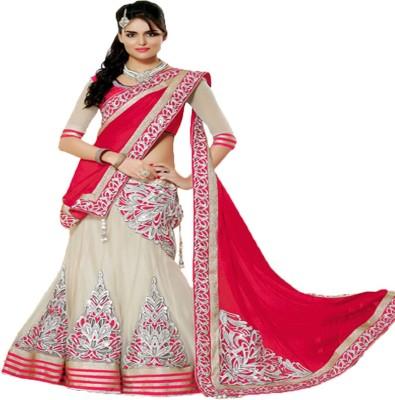 Meshwa Fashion Self Design Fashion Handloom Chiffon, Net Sari