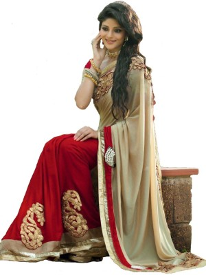 PareeDil Embriodered Fashion Georgette Sari