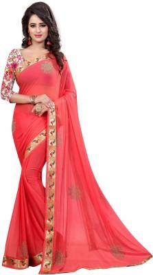 Arya Fashion Embellished Fashion Nylon Sari