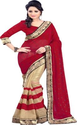 Aastha Textile Polka Print Bollywood Handloom Art Silk Sari