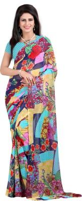 Wholetex Printed Fashion Georgette Sari