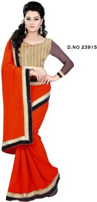 SHRADDHA PRINTS Floral Print Fashion Synthetic Georgette Sari