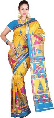 Royal Choice Geometric Print Daily Wear Dupion Silk Sari