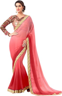 Krutika Self Design Fashion Georgette Sari