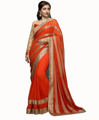 Best Collection Self Design Bollywood Georgette Sari