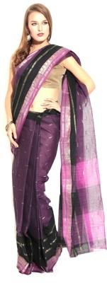 Samayra Self Design Jamdani Handloom Cotton Sari