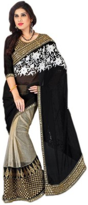 Dealtz Fashion Embriodered Bollywood Georgette Sari