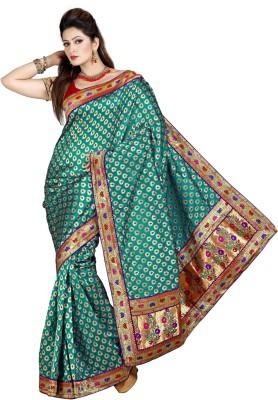 Preeti Printed, Floral Print Bollywood Art Silk Sari