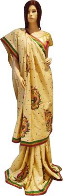 Exin Fashion Woven Fashion Tussar Silk Sari