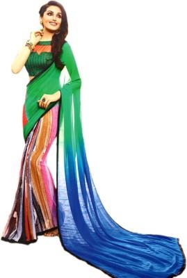 Ganghs Digital Prints Fashion Georgette Sari