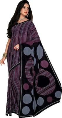 design me Self Design Fashion Synthetic Georgette Sari