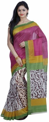 Salwarsaloon Printed Bollywood Art Silk Sari