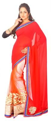 Estri Self Design Fashion Net, Georgette Sari