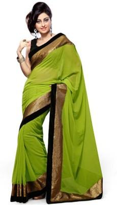 Heer Ganga Plain Fashion Chiffon Sari