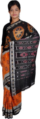 FAVIO Woven Ikkat Handloom Cotton Sari
