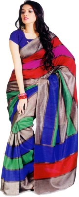 See More Self Design Bhagalpuri Handloom Art Silk Sari