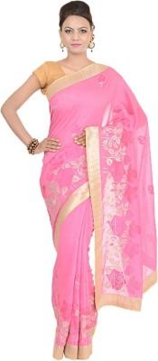 Kdc Sarees Embriodered Banarasi Handloom Tussar Silk Sari