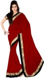 Jhalak Solid Bollywood Georgette Saree (...