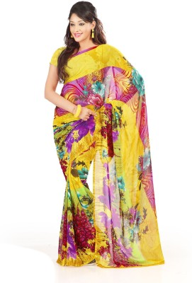 Abhinal Fashion Printed Fashion Art Silk Sari