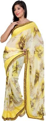 365 Labels Floral Print Daily Wear Georgette Sari
