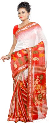 B3Fashion Woven Tant Handloom Silk Sari