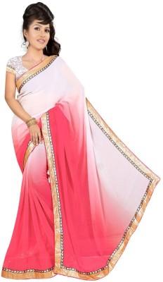 Shreesaimart Plain Fashion Pure Chiffon Sari
