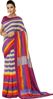 Amayra Fashions Solid, Embellished Fashion Georgette Sari
