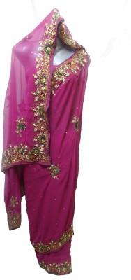 shivangi sarees Embriodered Bollywood Synthetic Sari