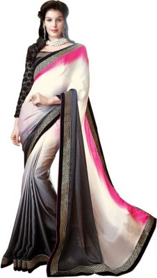 Pihar Embriodered Fashion Georgette, Satin, Jacquard Sari
