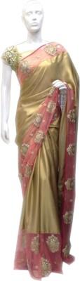 sai collection Embriodered Fashion Poly Silk Sari