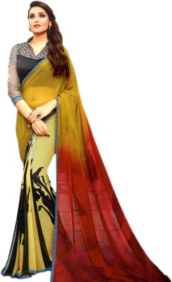 Ganghs Digital Prints, Printed Fashion Georgette Sari