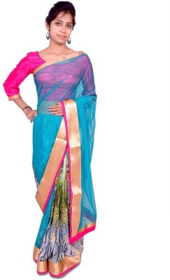 Aifaa Plain, Printed Fashion Net, Chiffon Sari