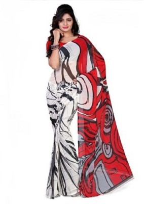 VK FASHION Printed That Georgette Sari