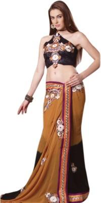 Triveni Self Design Fashion Synthetic Sari