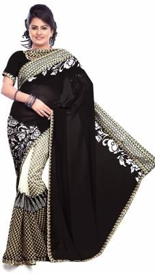 Wilten Fabrics Self Design Bollywood Georgette Sari