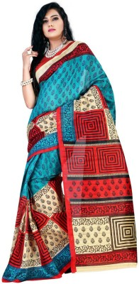 Sangam Collections Printed Bhagalpuri Art Silk Sari