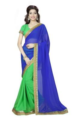 Om sai creation Solid Bollywood Georgette Sari