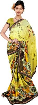 Janya Self Design Ganga Jamuna Georgette Sari