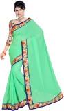 Ethnic For You Plain Fashion Chiffon Sar...