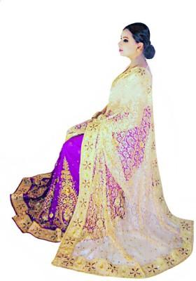 Home Design Self Design, Embriodered, Embellished Fashion Handloom Net, Georgette Sari