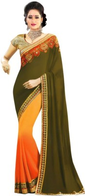 KHUSHALI COLLECTION Embriodered Bollywood Pure Georgette Sari