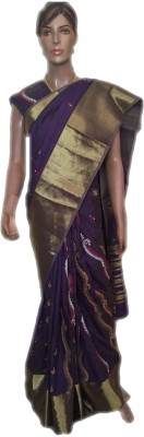 VanshikasCollections Embriodered Katha Dupion Silk Sari