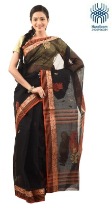 Tantuja Self Design Tangail Handloom Cotton Sari
